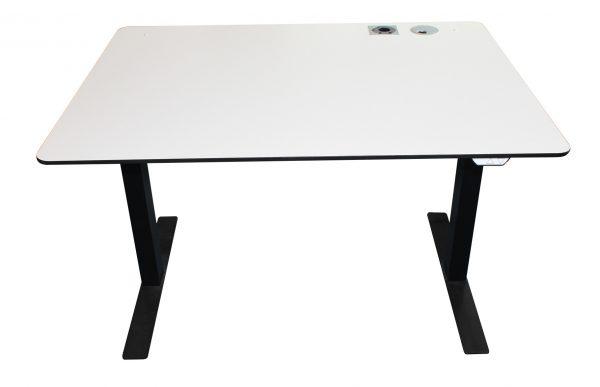Brugt Hæve-sænke bord hvid laminat