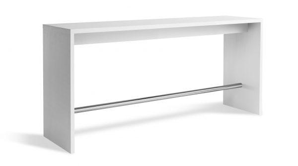 Højbord i hvid laminat